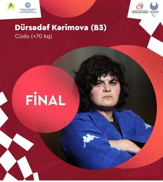 Dürsədəf Kərimova Tokio Paralimpiadasının finalına yüksəlib