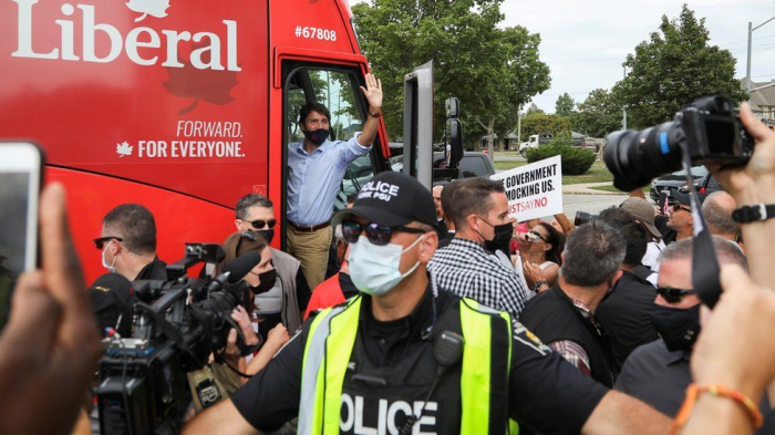 Canada election: Justin Trudeau rally cancelled after angry protests