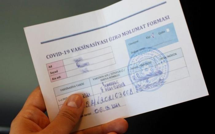 Saxta COVID-19 pasportu satanlar saxlanıldı