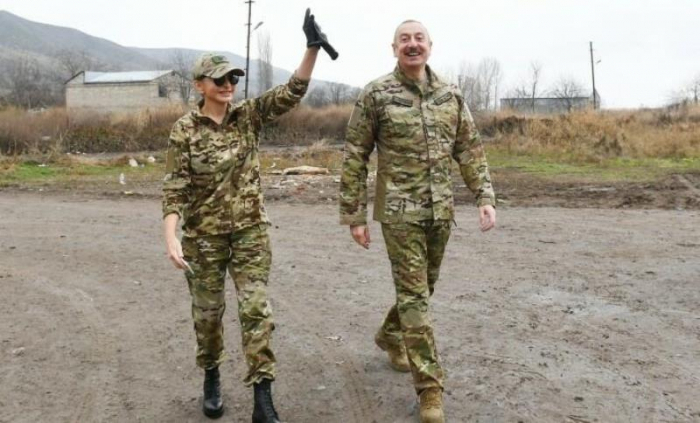 First VP Mehriban Aliyeva posts video from her visit to liberated territories with President Ilham Aliyev