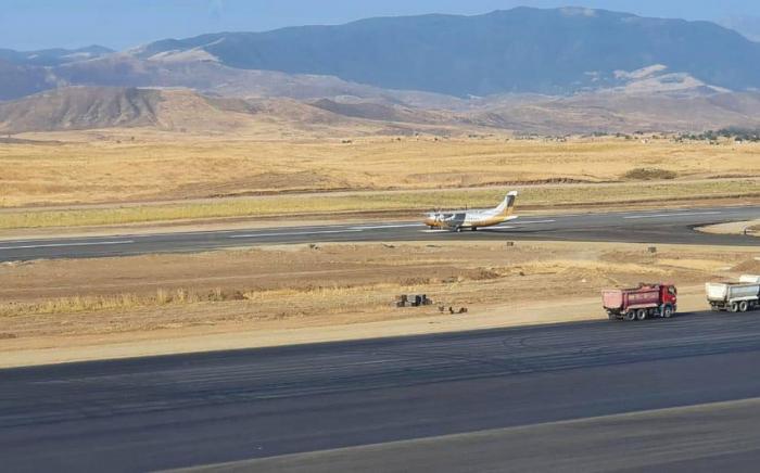 """""""Füzuli"""" Beynəlxalq hava limanında sınaq uçuşları həyata keçirilir"""