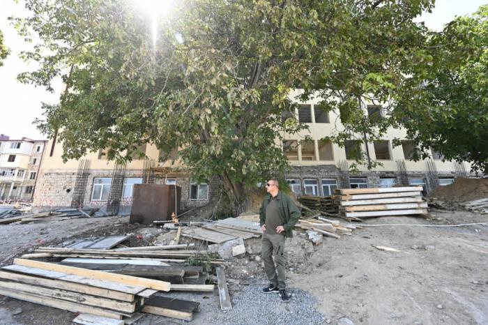 Şuşada Xüsusi nümayəndəliyin binası bərpa olunur