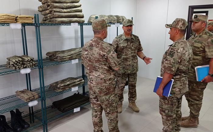 Nazir Qarabağdakı bir neçə yeni hərbi hissədə olub