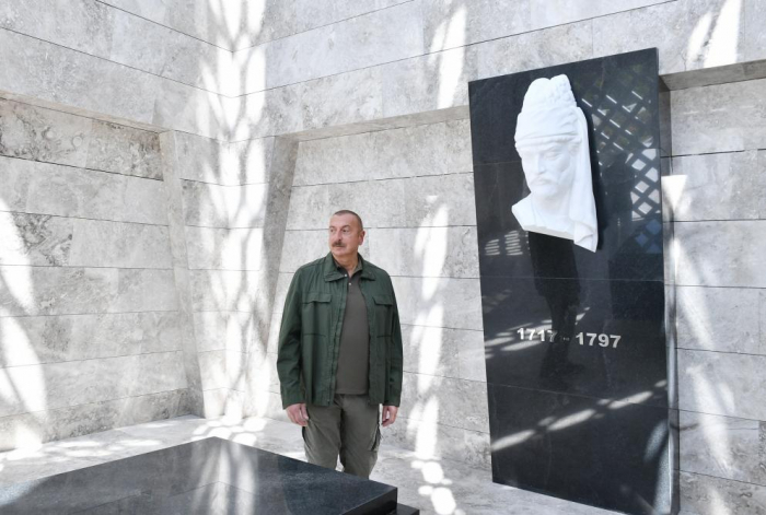 Şuşada Vaqifin muzey-məqbərə kompleksinin açılışı olub -  YENİLƏNİB