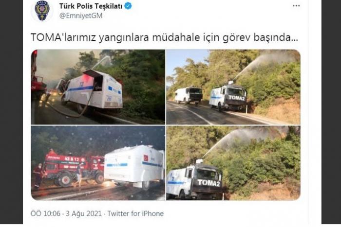 """Türkiyədə son durum:   Əməliyyatlara """"TOMA""""lar cəlb edilib-   FOTOLAR"""