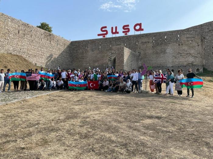 Representatives of Azerbaijani diaspora on visit to Shusha