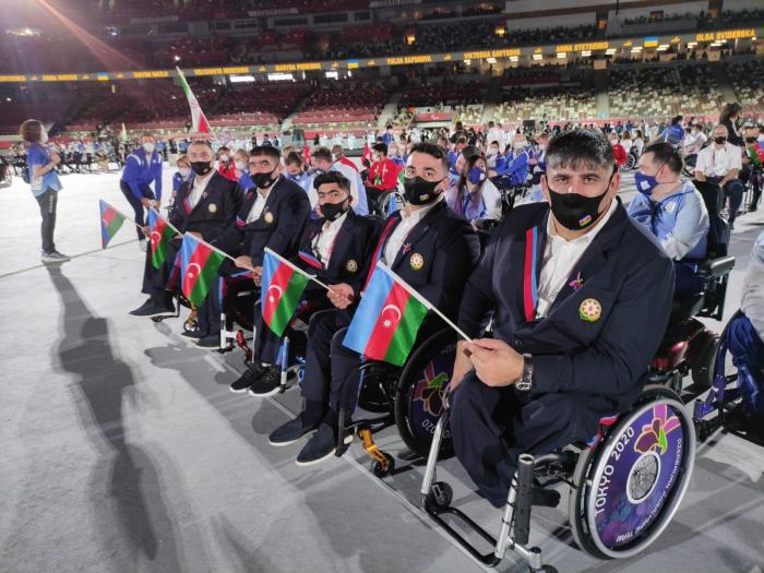 Paralimpiyaçılarımız Tokio-2020-nin açılışında -    FOTOLAR