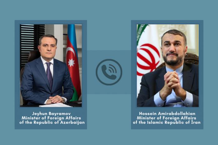 Azərbaycan və İran    XİN rəhbərləri telefonla danışıblar