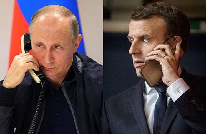 Putin Makronla Qarabağ məsələsini müzakirə edib