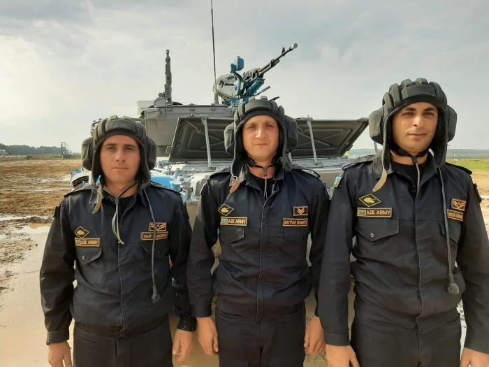 """Hərbçilərimiz """"Tank biatlonu"""" müsabiqəsində -    FOTOLAR"""