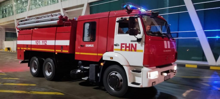 Another group of Azerbaijani firefighters arrive in Turkey to fight forest fires