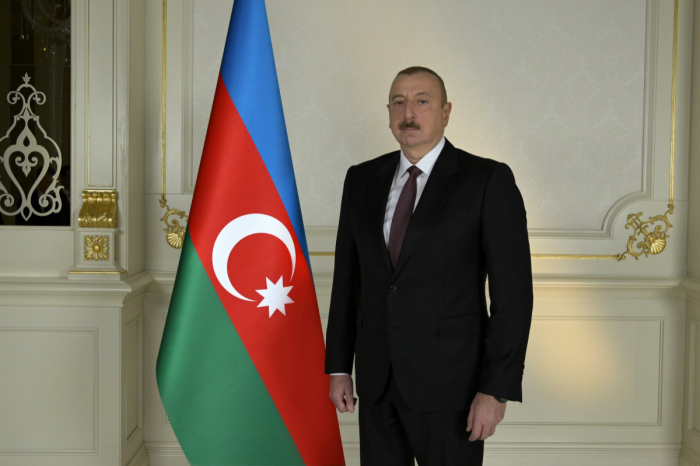 Azerbaijani president attends in laying foundation of another residential complex in Sumgayit