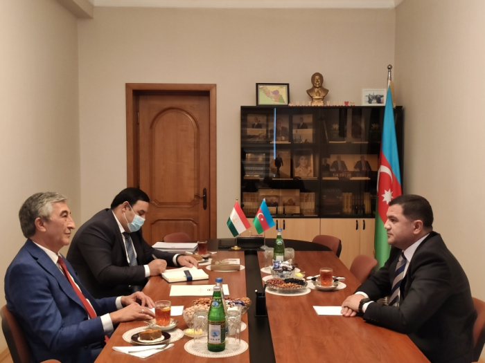 Tajik ambassador visits Representative Office of Nakhchivan in Baku