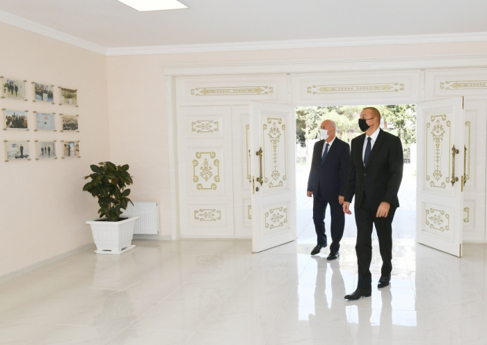 President Ilham Aliyev attended inauguration of secondary school No 20 in Sumgayit - PHOTOS