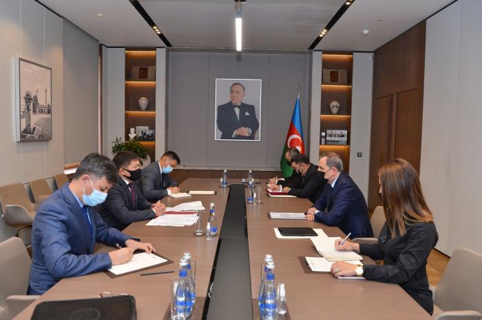 Azerbaijani FM receives credentials of new ambassador of Kyrgyzstan