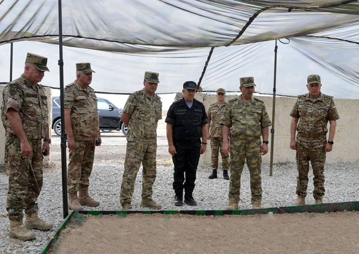 """Azerbaijan's military leadership inspects preparatory work for """"Three Brothers - 2021"""" Exercises"""