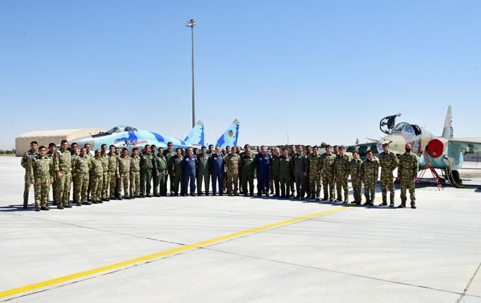 """Azerbaijani military attaché     Azerbaijani military attaché met with personnel participating in the """"TurAz Falcon - 2021"""" exercises"""