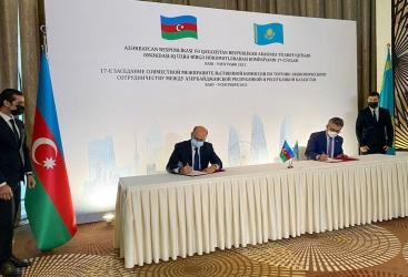 عقد الجلسة السابعة عشرة للجنة الحكومية التجارية الاقتصادية بين أذربيجان وكازاخستان