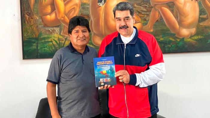 Evo Morales se reunió con el dictador Nicolás Maduro en Caracas tras visitar a Díaz-Canel en Cuba