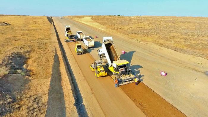 Aserbaidschan setzt den Bau der Autobahn Barda-Aghdam fort