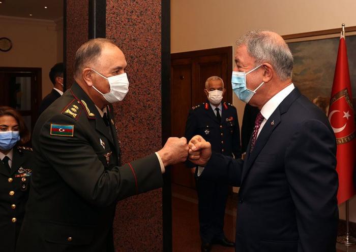Turkish Defense Minister receivesFirst Deputy Minister of Defense of Azerbaijan