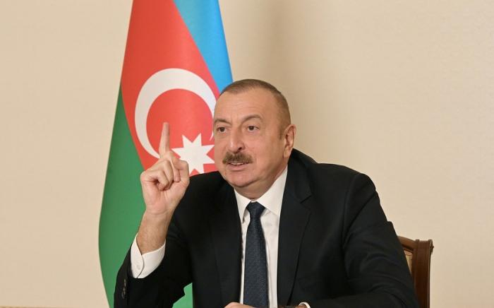 Ilham Aliyev:   Jeder sollte wissen, dass sich niemand der Verantwortung entziehen kann
