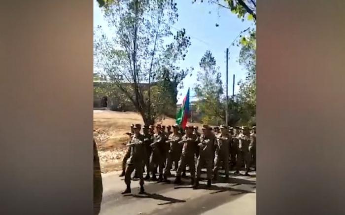 Azerbaijani servicemen march in Shusha tocommemorate liberation of Baku from Armenian-Bolshevik forces