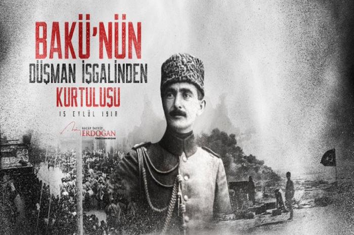 Herzlichen Glückwunsch von Erdogan zum Unabhängigkeitstag von Baku