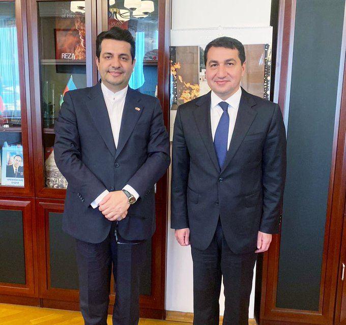 Iranian ambassador meet Assistant to Azerbaijani President