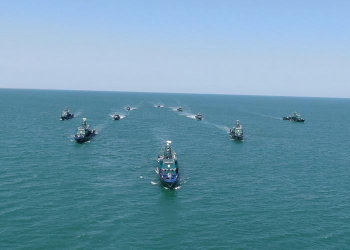 El Servicio Estatal de Fronterasde Azerbaiyán realiza ejercicios en el Mar Caspio-   VIDEO