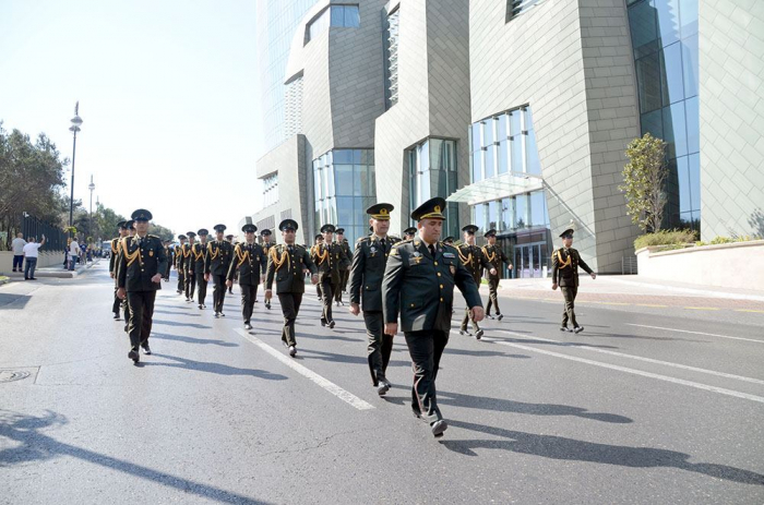 Azerbaijani Army holds events on 103rd anniversary of Baku