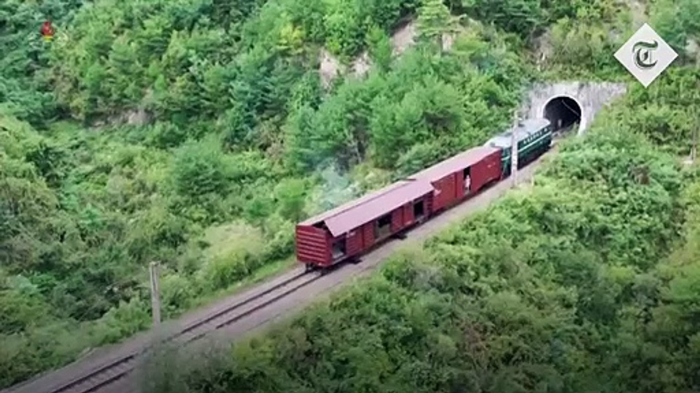 NKo TV broadcasts footage of missile launch from train -   NO COMMENT