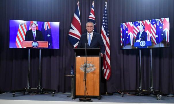 France recalls ambassadors to US and Australia after Aukus pact