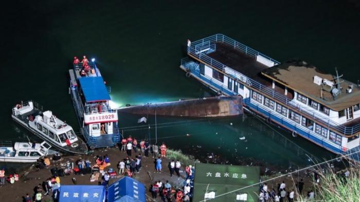Çində gəmi qəzası nəticəsində 10 nəfər ölüb