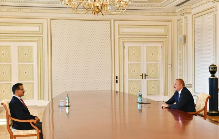 Azerbaijani president receives CEO of DP World