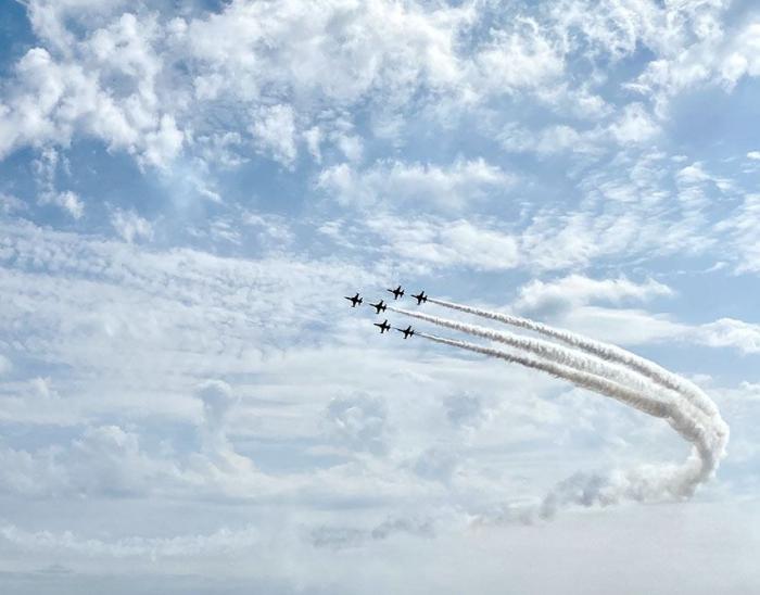 Azerbaijani military pilots perform first flights at Teknofest-2021 festival