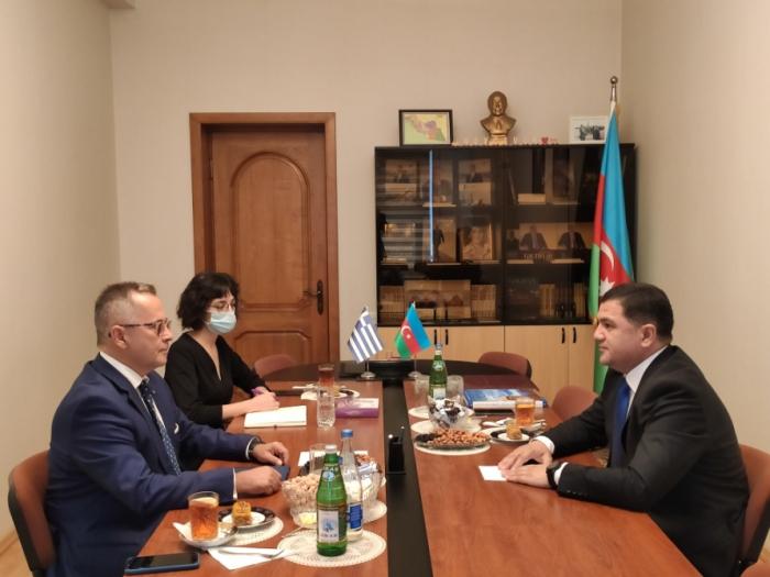 Greek ambassador visits Representative Office of Nakhchivan in Baku