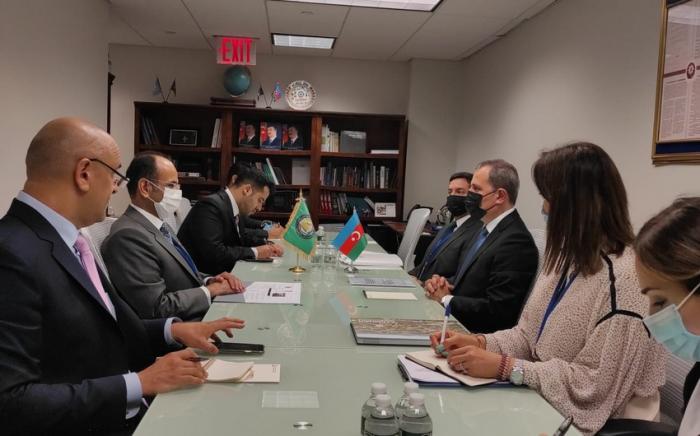 Jeyhun Bayramov traf sich mit Nayef Falah Mubarak Al-Hajraf