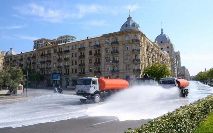 Bakú será asumida a una desinfección intensificada