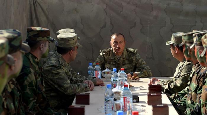 All 44 days we went only forward, President Aliyev says