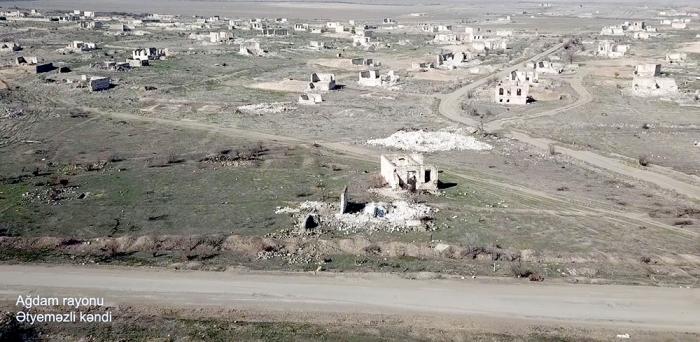 Video   footage of Atyemazli village of Aghdam region
