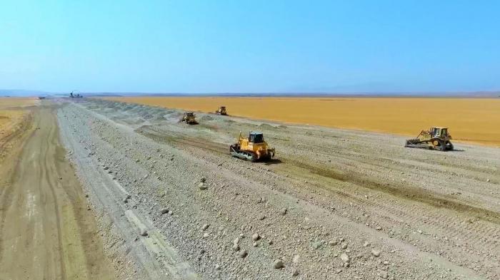 Construction of Horadiz-Jabrayil-Zangilan-Aghband highway underway in Azerbaijan