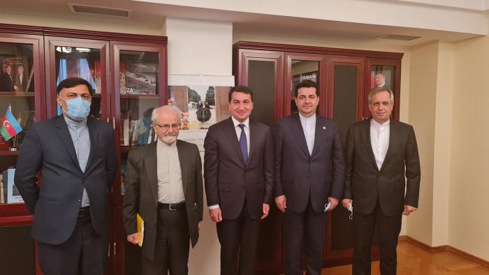 Assistant to Azerbaijani president talks bilateral and regional issues with Iranian Deputy FM