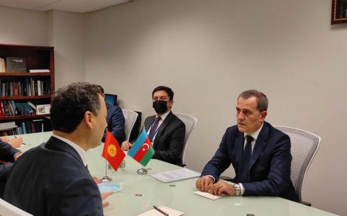 Azerbaijani FM talks bilateral issues with his Kyrgyz colleague