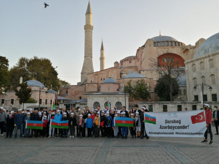 Vətən müharibəsi şəhidlərinin xatirəsi İstanbulda anılıb -    FOTO