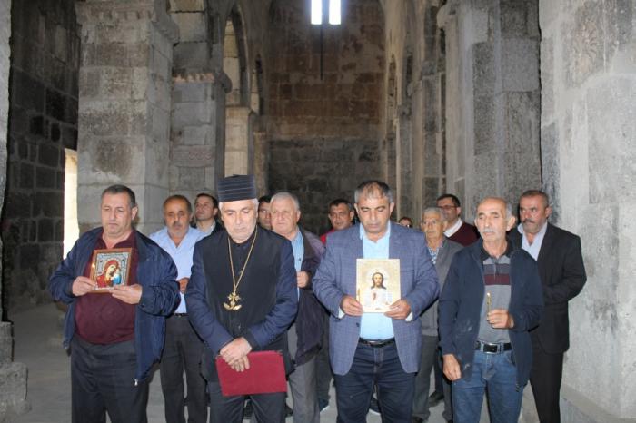 Ağoğlan monastırında şəhidlərimizin ruhuna dualar oxunub