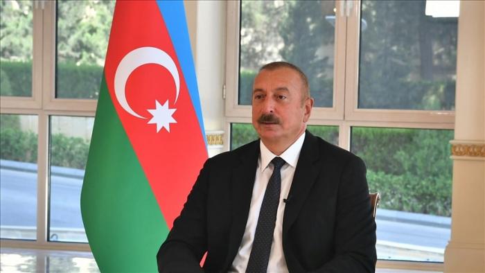 President Aliyev: Iranian trucks have illegally entered Karabakh during Armenian occupation
