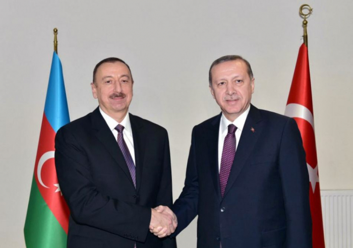 Turkish president calls Azerbaijani president in connection with Remembrance Day