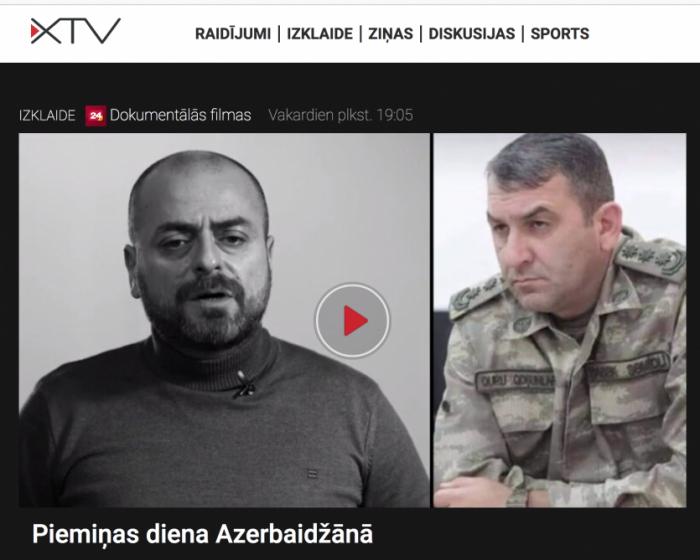 Vətən müharibəsi ilə bağlı film Latviya telekanalında