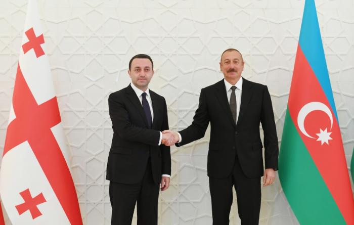 Azerbaijani president holds meeting with Georgian PM - PHOTOS, UPDATED